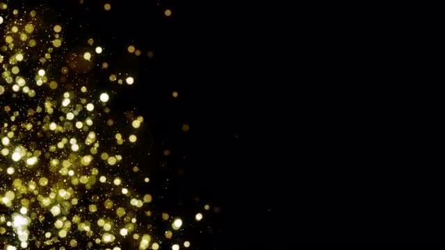 Gold Particles : Stock Motion Graphics