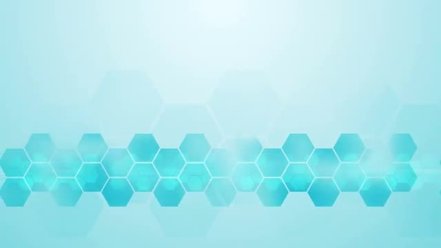 Light Blue Hexagon Corporate Background: Stock Motion Graphics