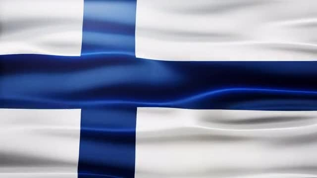 Finland Flag: Stock Motion Graphics