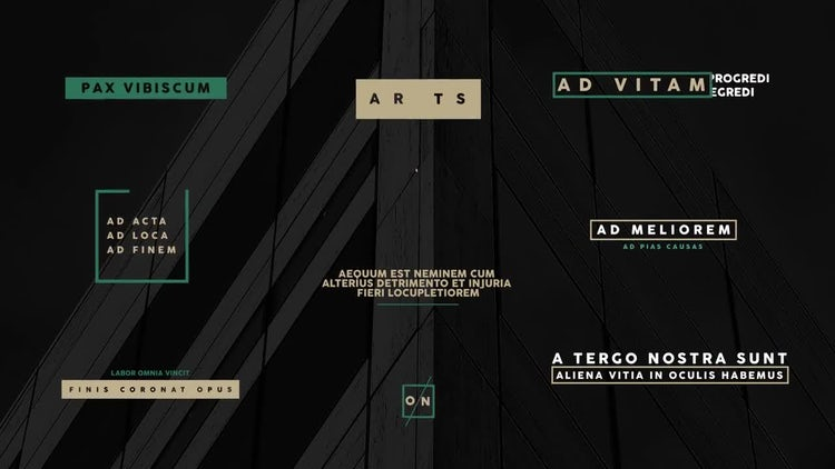 Simple Modern Titles: After Effects Templates
