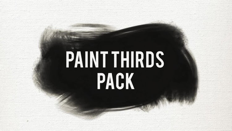 Paint Thirds Pack: Premiere Pro Templates