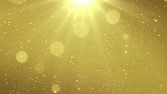 Golden Particle Dust: Motion Graphics