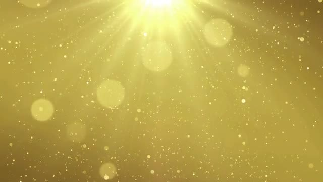 Golden Particle Dust: Stock Motion Graphics