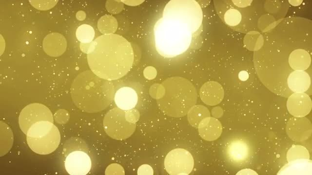Large Gold Particles: Stock Motion Graphics