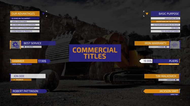 Commercial Titles: After Effects Templates