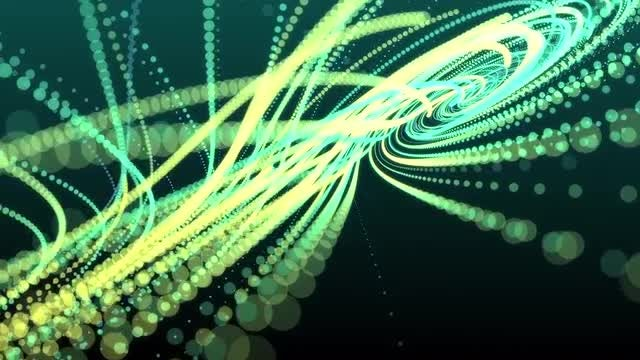 Particle String Background: Stock Motion Graphics