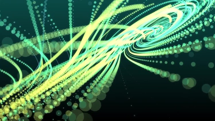 Particle String Background: Motion Graphics
