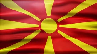 Macedonia Flag: Motion Graphics