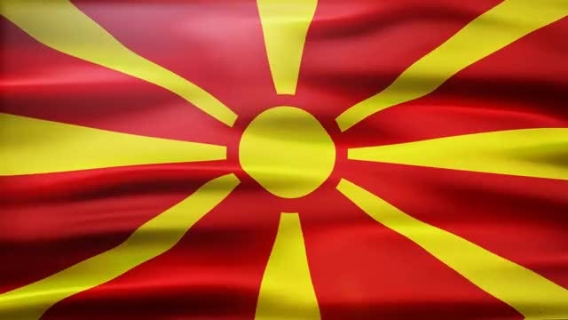 Macedonia Flag: Stock Motion Graphics