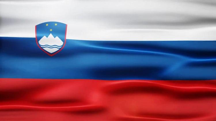 Slovenia Flag: Stock Motion Graphics