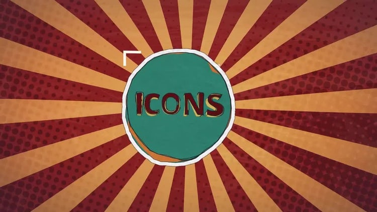 Cartoon Icons Set: After Effects Templates