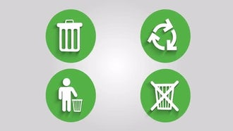 Recycle Bin Icons: Motion Graphics