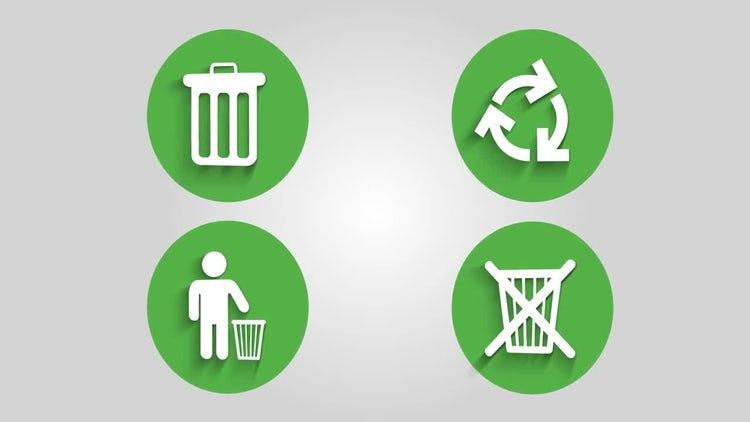 Recycle Bin Icons: Stock Motion Graphics