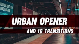 Short Urban Opener & Transitions: Premiere Pro Templates