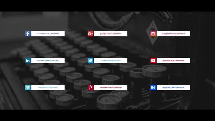 Social Media Lower Thirds : Premiere Pro Templates