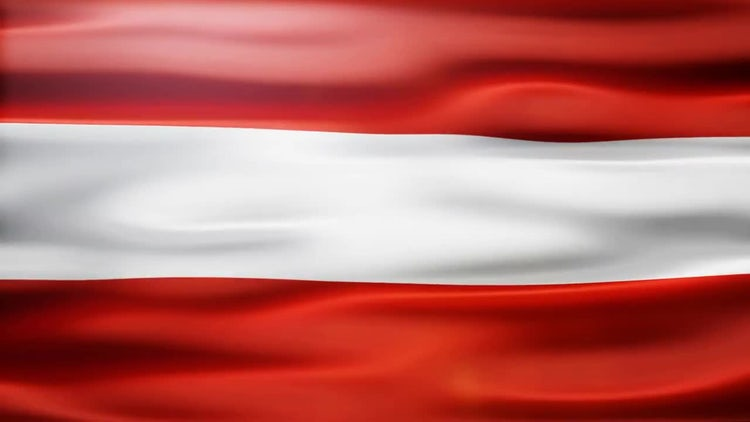 Austria Flag: Motion Graphics