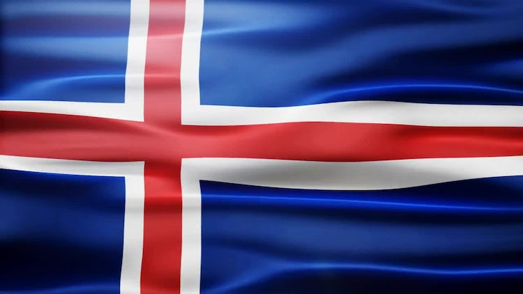 Iceland Flag: Stock Motion Graphics