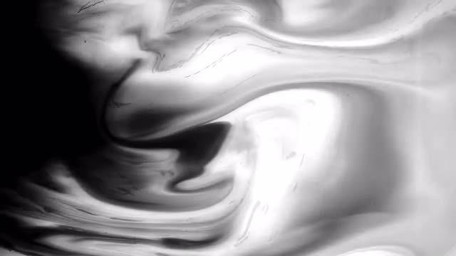 Black Ink Flow: Stock Video