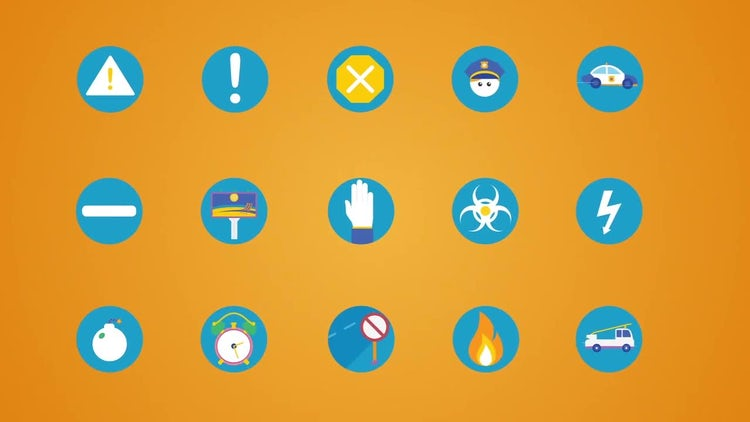 260 Flat Animated Icons (part 1): After Effects Templates