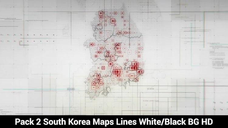 South Korea Maps: Stock Motion Graphics