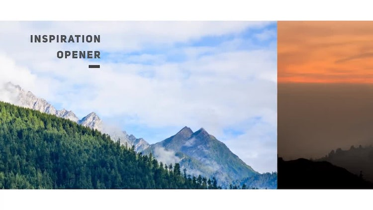 Inspiration Opener: After Effects Templates