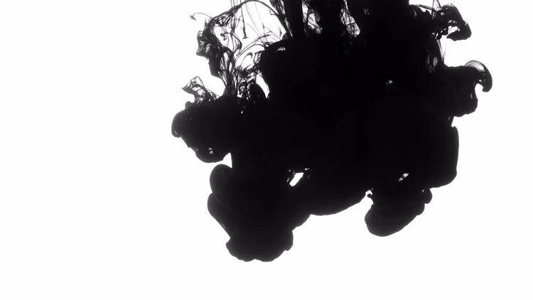 Black Ink Drops In Water: Stock Video