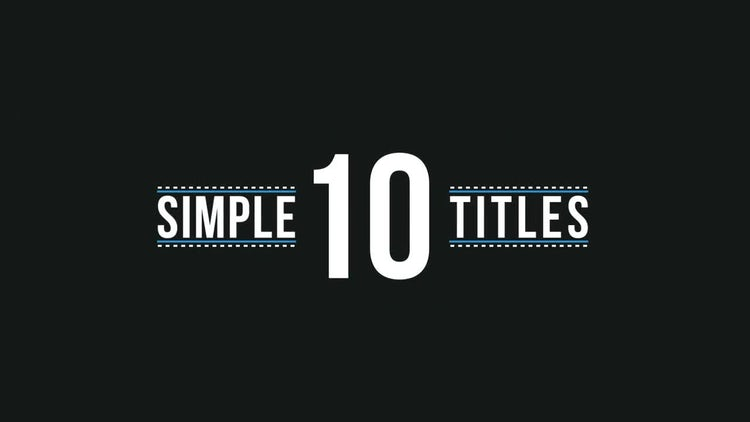 Simple Titles: After Effects Templates