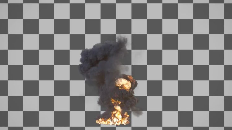 Large Explosion: Stock Motion Graphics
