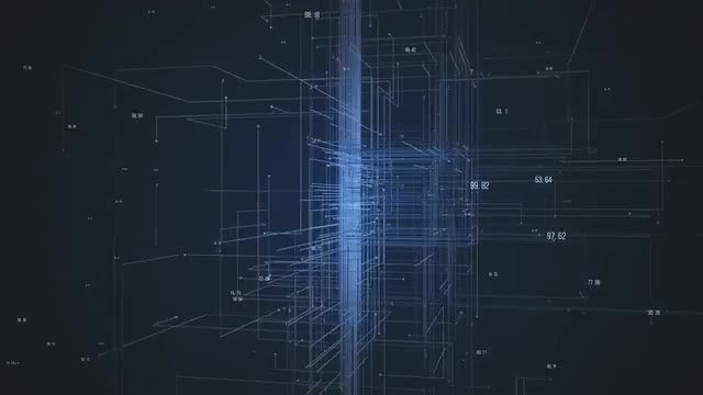 Network Abstract: Stock Motion Graphics