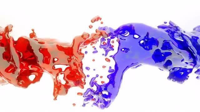 Red-blue Liquid: Stock Motion Graphics