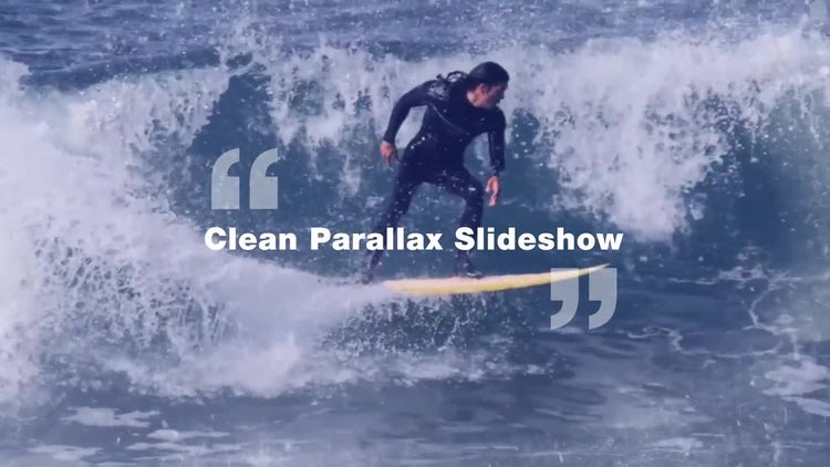 Clean Parallax Slideshow: After Effects Templates
