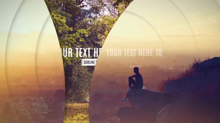 Elegant Parallax Slides: After Effects Templates