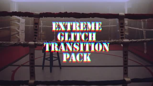 Extreme Glitch Transition Pack: Premiere Pro Templates