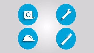 Construction Icons: Motion Graphics