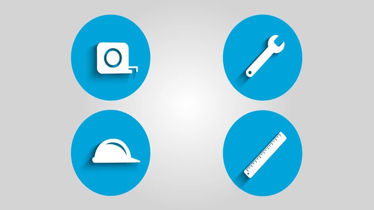 Construction Icons: Stock Motion Graphics