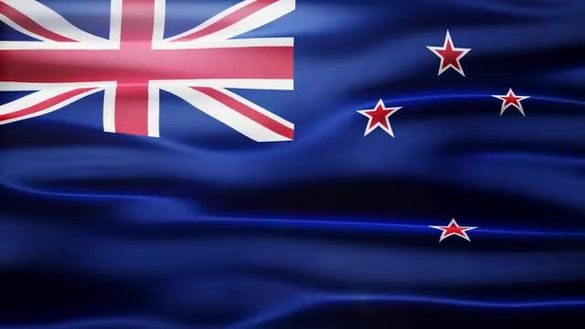 New Zealand Flag: Stock Motion Graphics
