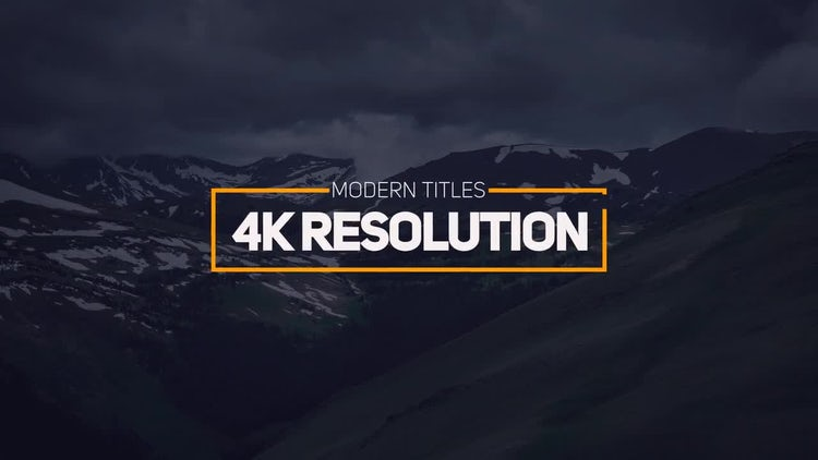 Modern Titles 4k: After Effects Templates