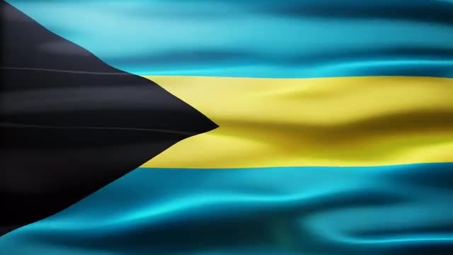 Bahamas Flag: Stock Motion Graphics