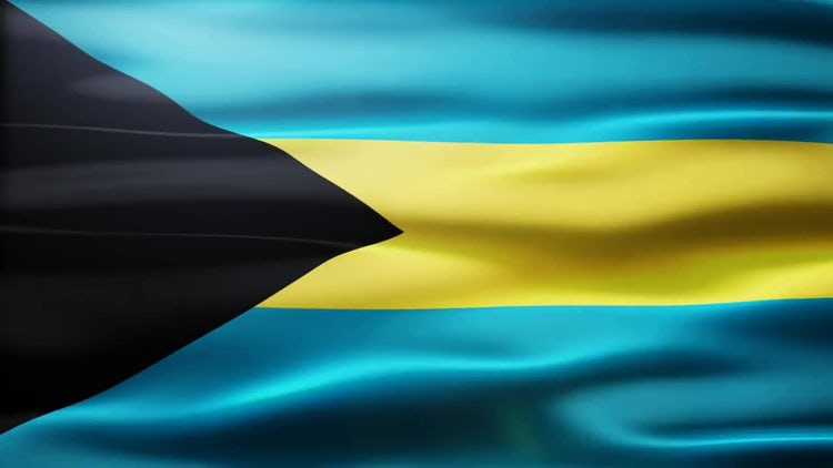 Bahamas Flag: Motion Graphics