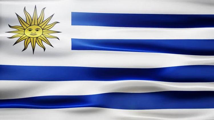 Uruguay Flag: Stock Motion Graphics