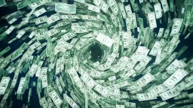 Tornado Of Money: Stock Motion Graphics