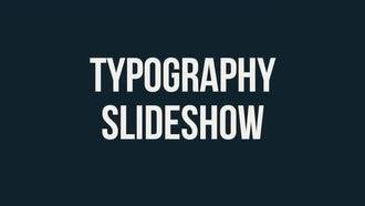 Typography Slideshow: Premiere Pro Templates