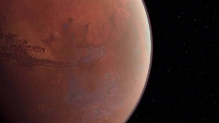 Mars Planet: Stock Motion Graphics