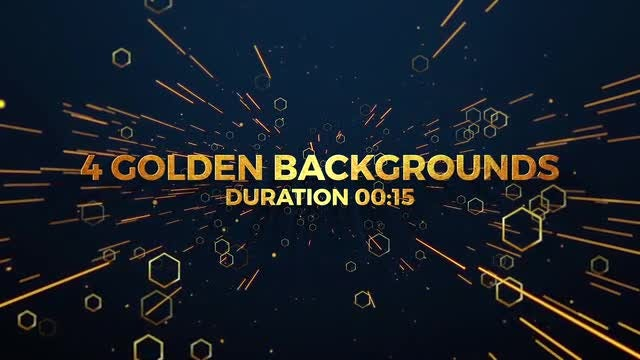 Fashion Golden Backgrounds Pack: Stock Motion Graphics