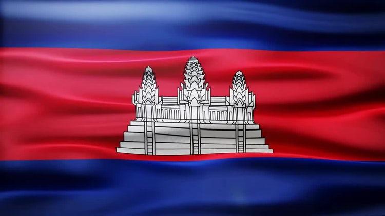 Cambodia Flag: Stock Motion Graphics