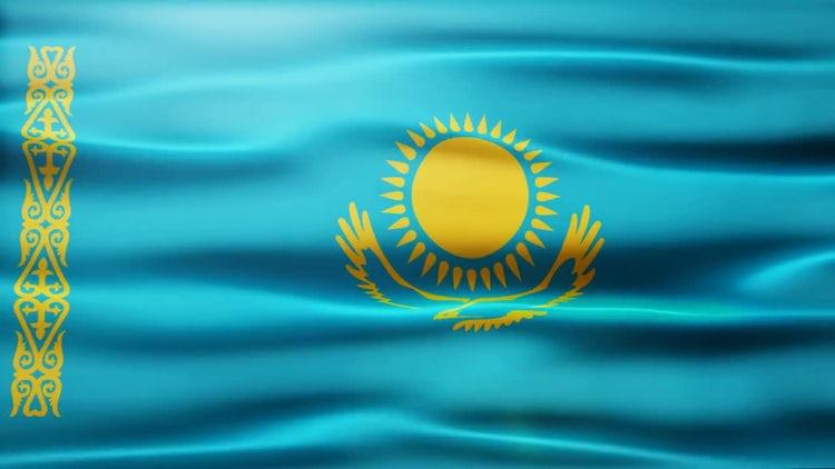 Kazakhstan Flag: Stock Motion Graphics