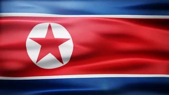 North Korea Flag: Motion Graphics