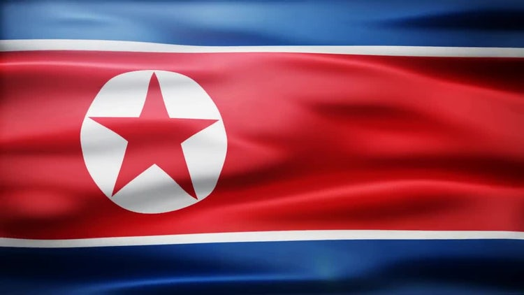 North Korea Flag: Stock Motion Graphics