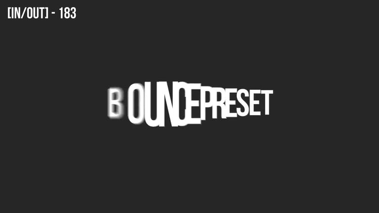 80 Bouncing Text Presets V2.0: After Effects Templates