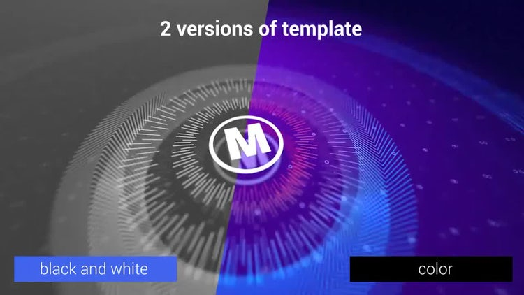 Logo geometry lines 3D: After Effects Templates